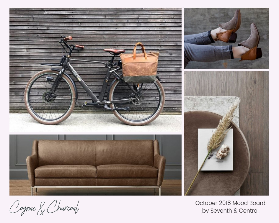 Cognac and Charcoal October Mood Board Created by Seattle Wedding Planner and Coordinator, Seventh and Central