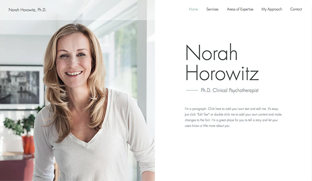 NEW! website templates – Clinical Psychotherapist