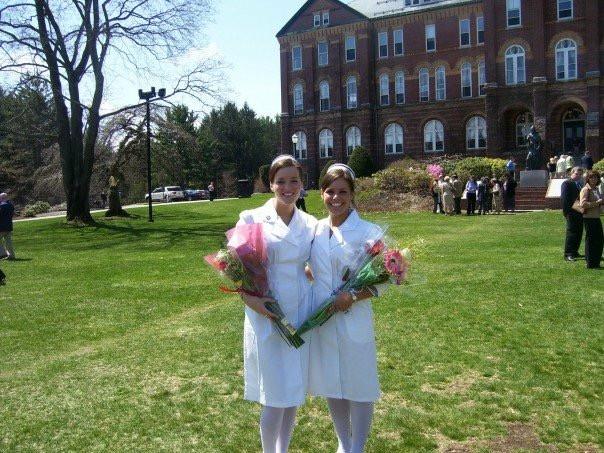 Sara and I at our Nursing Pinning