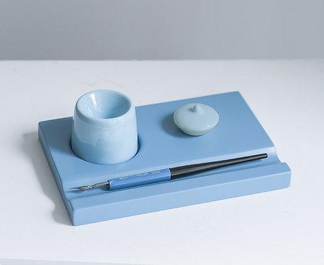 Набор предметов для чистописания (голубой)