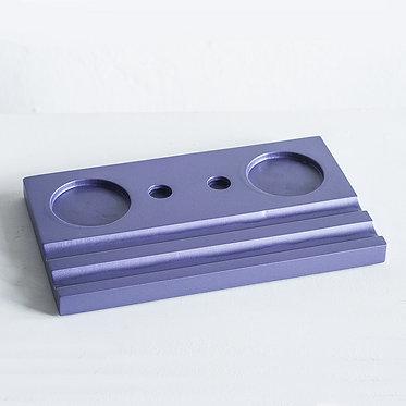 Подставка под чернильницы (двойная, фиолетовая)