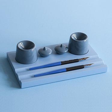 Набор предметов для чистописания (двойной, синий)