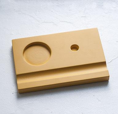 Подставки под чернильницы-непроливайки (желтая)