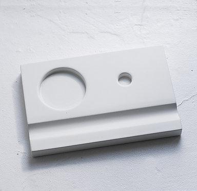 Подставки под чернильницы-непроливайки (белая)