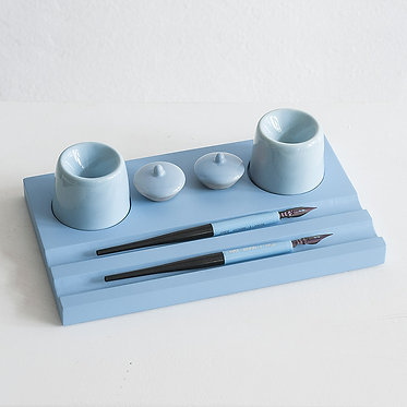 Набор предметов для чистописания (двойной, голубой)