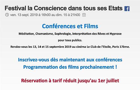 billetterie Festival la Conscience dans tous ses Etats