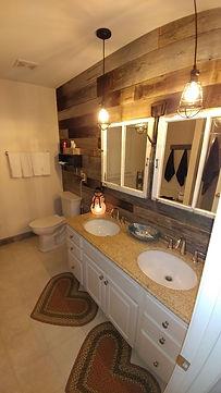 Handpicked barnwood bathroom remodel Win