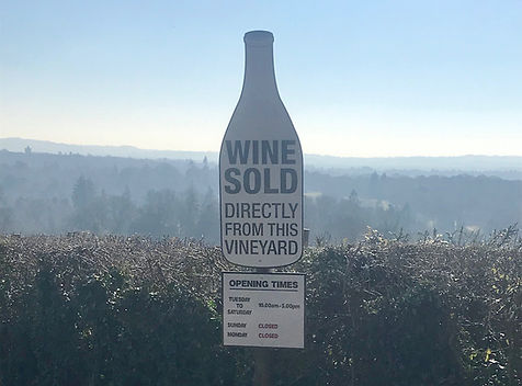 Surrey Hills, Vineyard entrance, wine sold at the vineyard, visit us