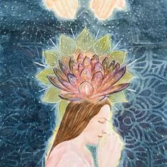 spirituality - watercolor illustration
