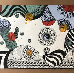 Grafismos, Patterns e Guache