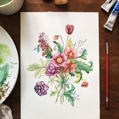 flower bouquet - watercolor