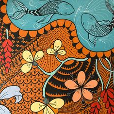 wall art - posca and acrylic paint