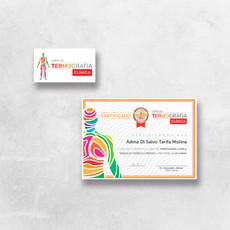 Logotipo, cartão e certificado - Curso de Termografia Clínica