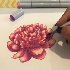 Flower with copic