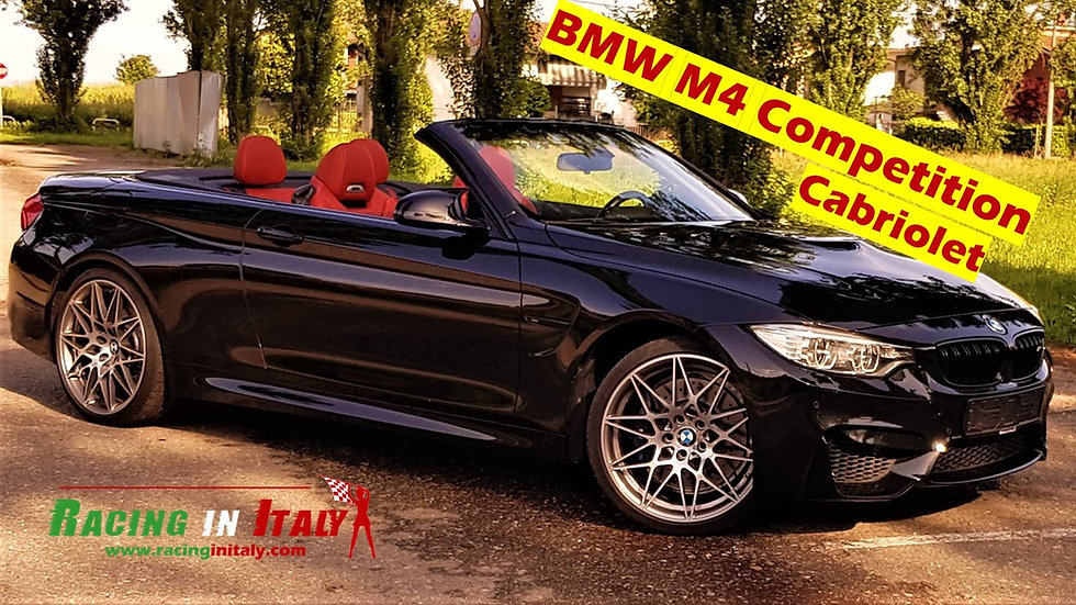 BMW M4 competition giri in pista