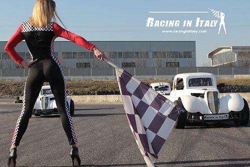 Реальные гонки между друзьями на одиночных гоночных карах в Милане, Италия