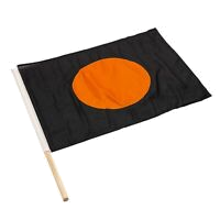 orange black race flag