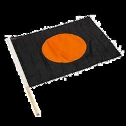 orange black race flag