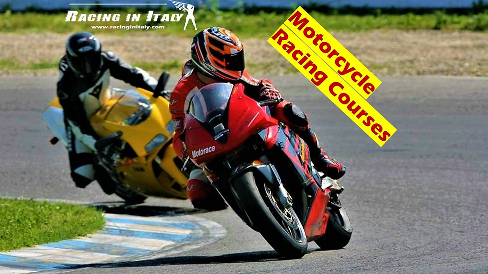 Motorcycle Racing Course near Milan, Italy