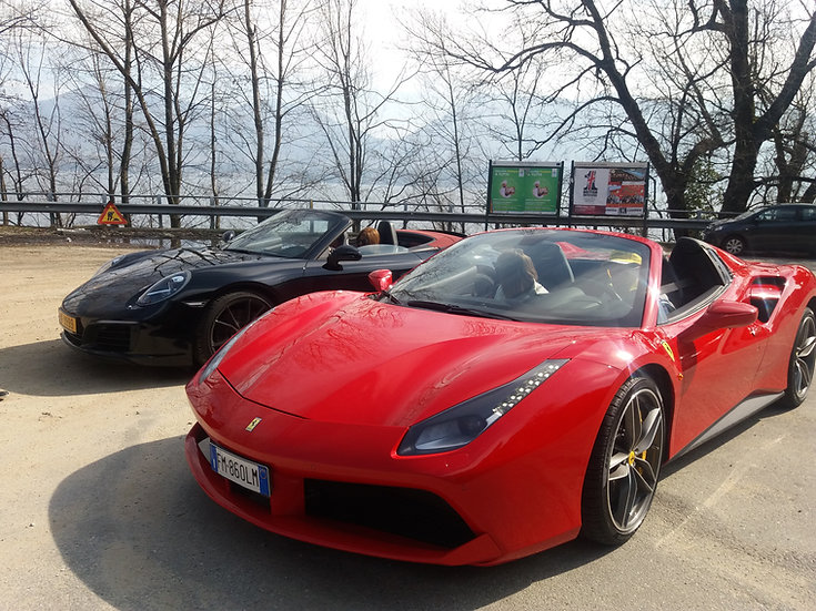 Guided Tour with Ferrari and Lamborghini to Lake Como , Italy