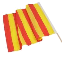 Yellow strip Race Flag