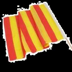 Yellow strip Race Flag