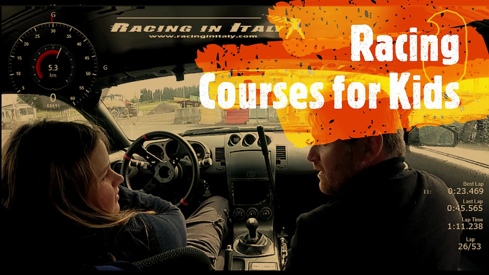 Kids attraction | Motor sport activity | Racing Courses with Race Cars | Milan