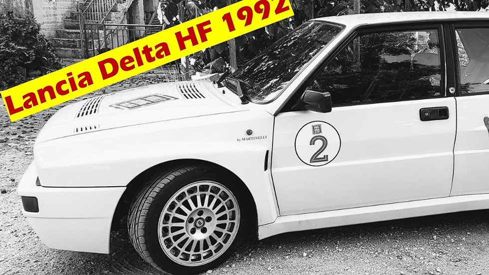 Test Drive 90' Lancia Delta HF Turbo Integrale on a Race Track in Milan & Italy