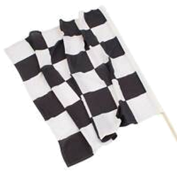 checker flag race