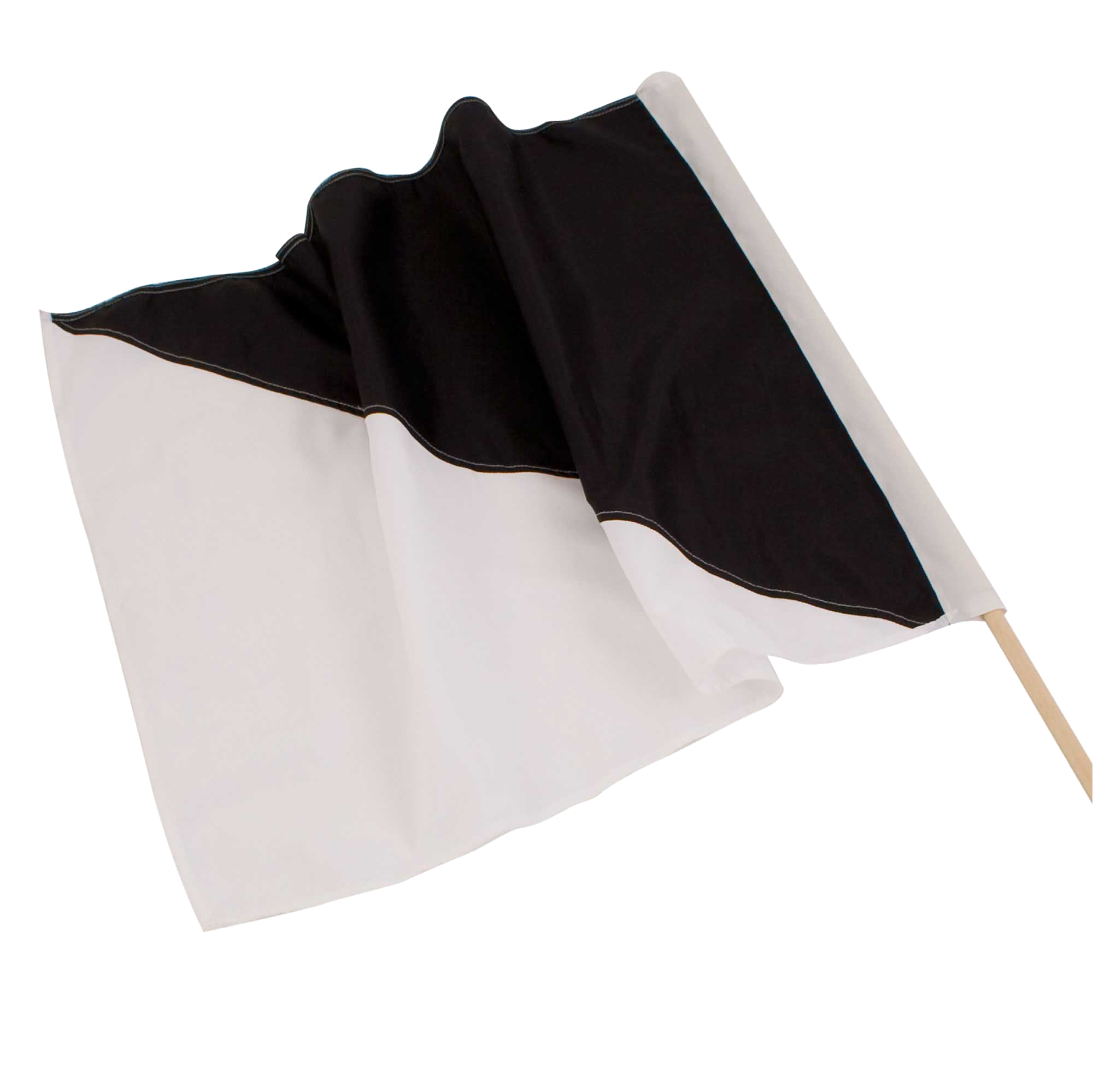 Black and white race flag