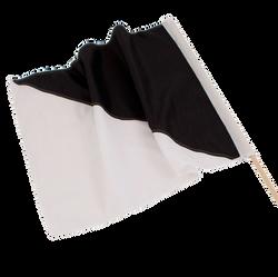 Black and white race flag