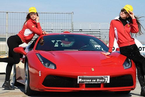 Тест драйв Ferrari 488 на гоночной трассе рядом с Миланом