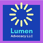 Lumen Advocacy Logo with a burst of light