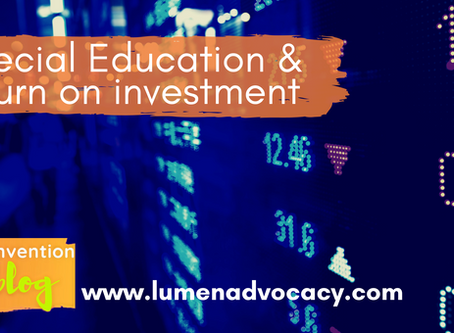 Special Education & return on investment (ROI)