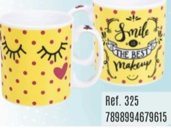 CANECA PORCELANA 320ML SMILE IS THE BEST