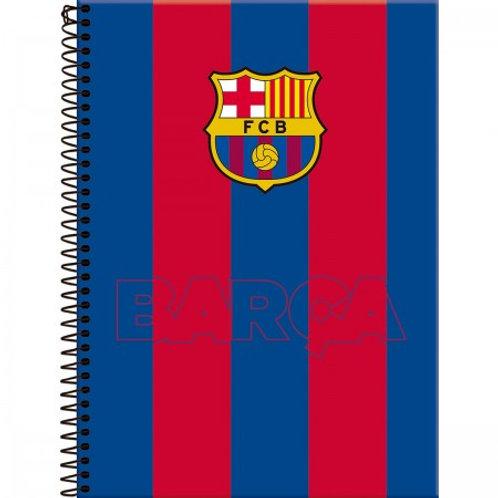Caderno Universitário Capa Dura Barcelona 20 Matérias 400 Folhas