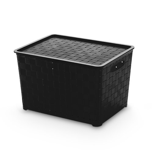 Caixa Quadriculada com tampa 22 litros