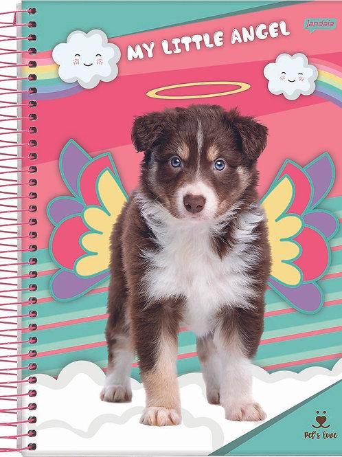 Caderno 1/4 Pet 80 Folhas Capa Dura