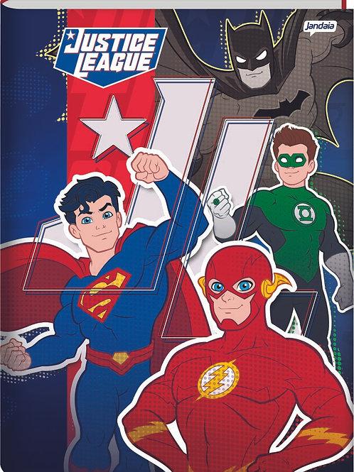 Caderno Brochura Universitário 80 Folhas Liga Da Justiça Capa Dura