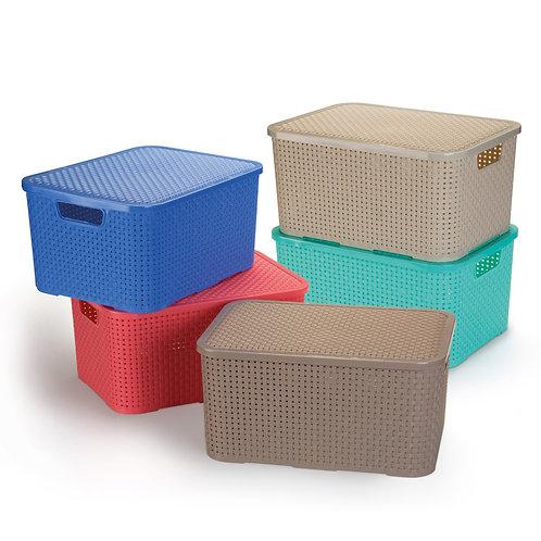 Micro caixa rattan 3,5 lts Cores