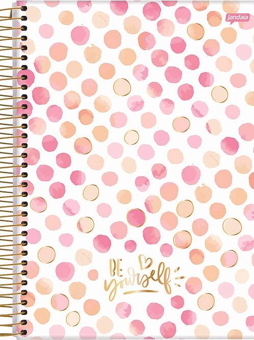 Caderno Colegial 1 Matéria 80 Folhas Petit La Creme Capa Dura