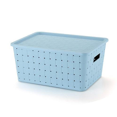 Caixa prática Rattan 21Lts - azul 1605AZ