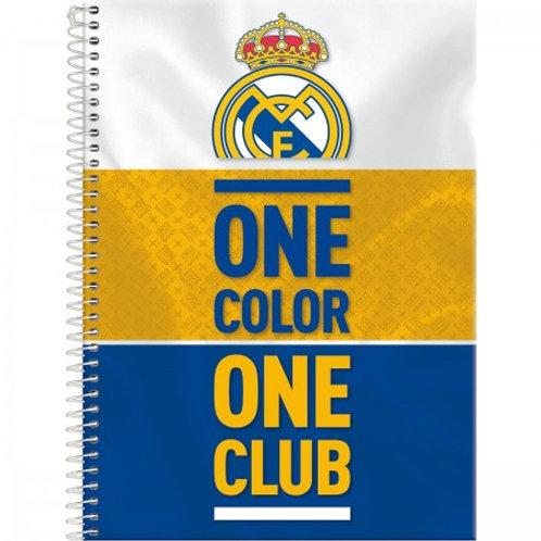 Caderno Universitário Real Madrid 10 Matérias 200 Folhas