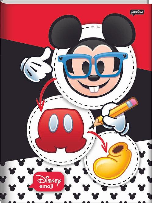 Caderno Brochura Universitário 80 Folhas Disney Emoji Capa Dura