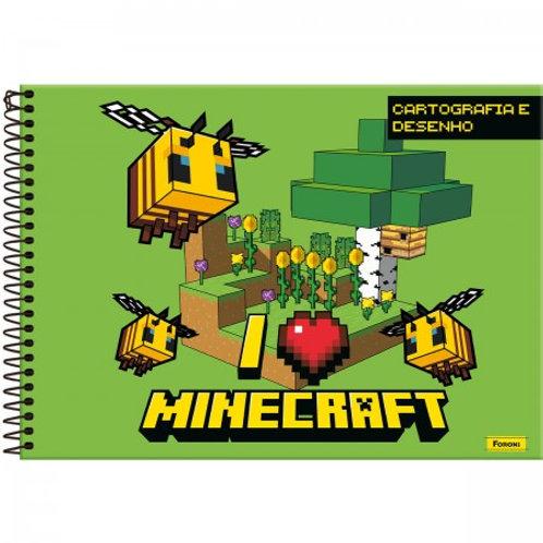 Caderno Cartografia Minecraft 96 Folhas
