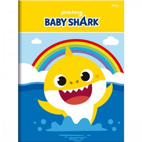 Caderno Brochurão Baby Shark 96 Folhas