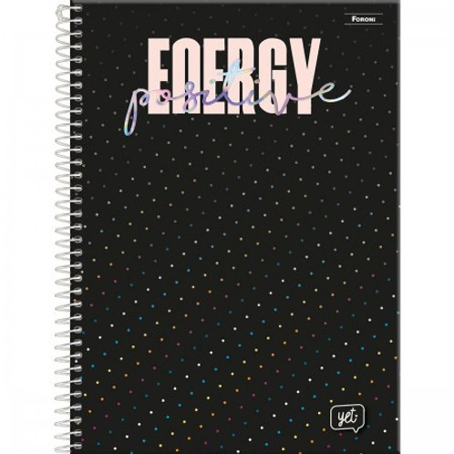 Caderno Universitário Yet Capa Dura 15 Matérias 300 Folhas