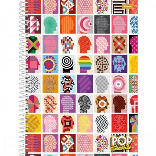 Caderno 1/4 Espiral Pop Collection 80 Folhas
