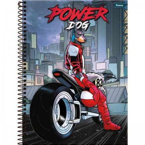 Caderno Universitário Power Dog 20 Matérias 400 Folhas