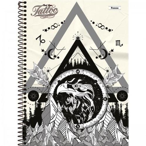 Caderno Universitário And One Tattoo 15 Matérias 240 Folhas